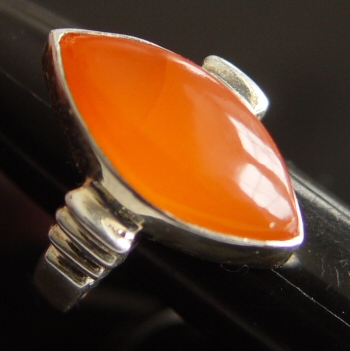Gem Hut - Finished Jewelry Gemstones :  finished jewelry shaped gem orange chalcedony